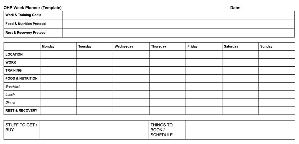 OHP Week Planner - Jan 18